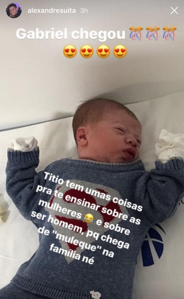 Gabriel, filho de Andressa Suita e Gusttavo Lima (Foto: Reprodução)