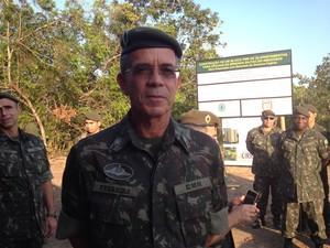 Comandante do CMN, general Oswaldo Ferreira (Foto: Cassio Albuquerque/G1)