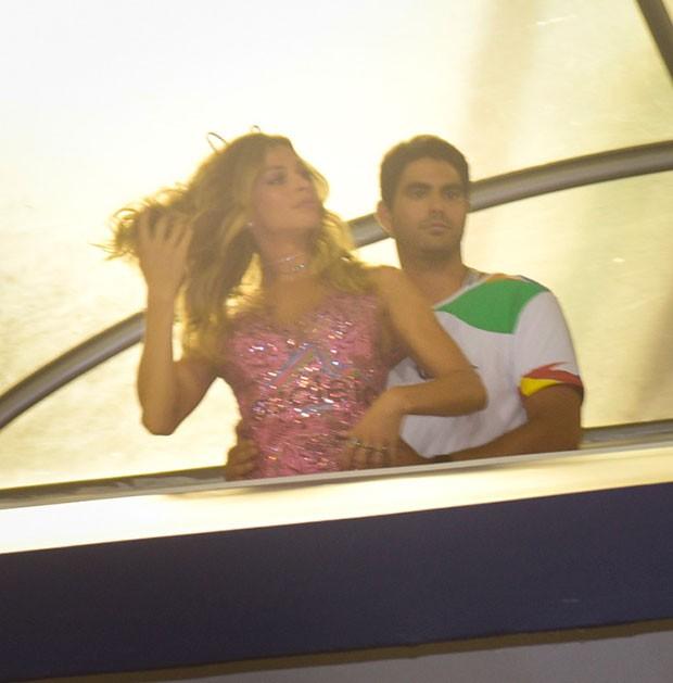 Grazi Massafera e o namorado, Patrick Bulus (Foto: Ed. Globo)