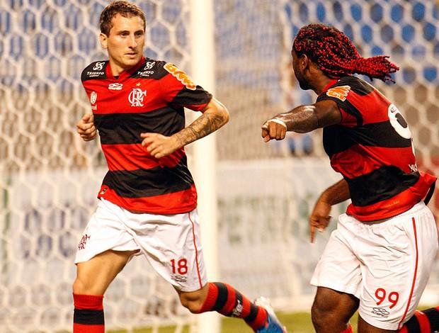 Bottinelli, Comemoração, Flamengo x Santos (Foto: Márcia Feitosa / Vipcomm)