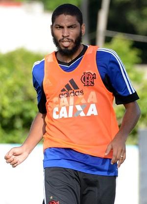 Wallace treino Flamengo (Foto: Alexandre Vidal/Fla Imagem)