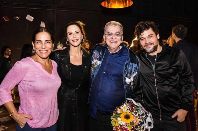 Gloria Pires e Guilhermina Guinle foram conferir a reestreia de 'Êxtase' de Walcyr Carrasco dirigida por Claudio Gabriel (Foto: Aline Macedo)