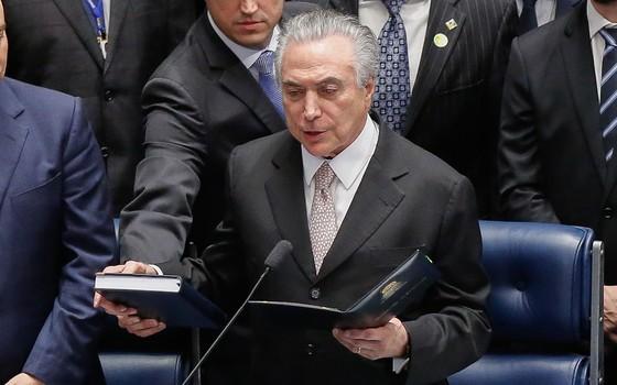 Posse do novo Presidente do Brasil , Michel Temer  (Foto: Sérgio Lima/ÉPOCA)