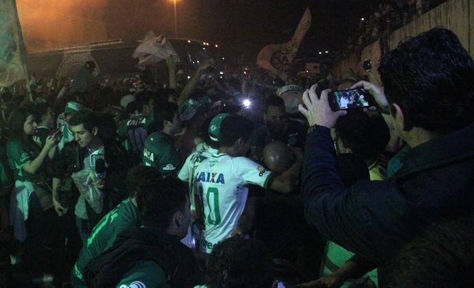 Chapecoense festa (Foto: Cleberson Silva/Chapecoense)