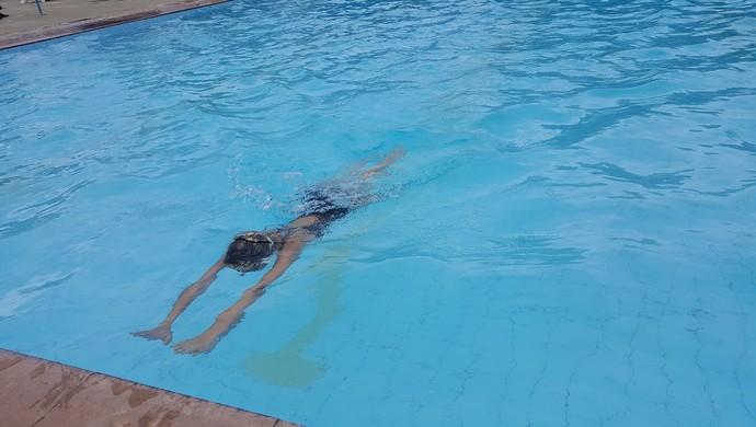 Raphaela de Almeida é campeã do Joer na categoria 50 metros de nado borboleta (Foto: Marco Bernardi)