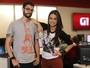 Cauê Fabiano e Mari Palma mostram camisetas divertidas do G1 em 1 minuto