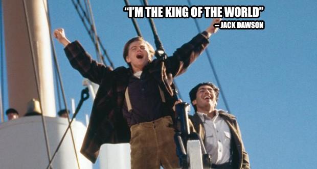 """""""Eu sou o rei do mundo"""" - Titanic (Foto: Divulgação)"""