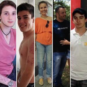 Cinco jovens se conectam após tragédia (Montagem sobre fotos/Felipe Truda e Luiza Carneiro/G1)