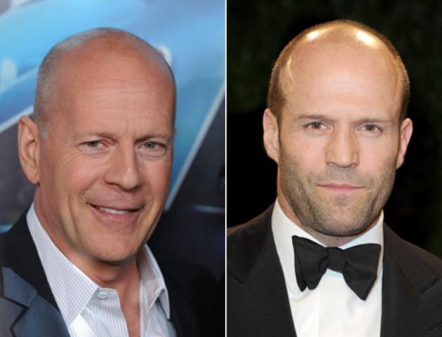 Bruce Willys e Jason Statham: carecas com estilo (Foto: Getty Images)