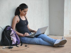 Estudante UFMS Camile dos Santos de Souza Campo Grande MS (Foto: Fernando da Mata/G1 MS)