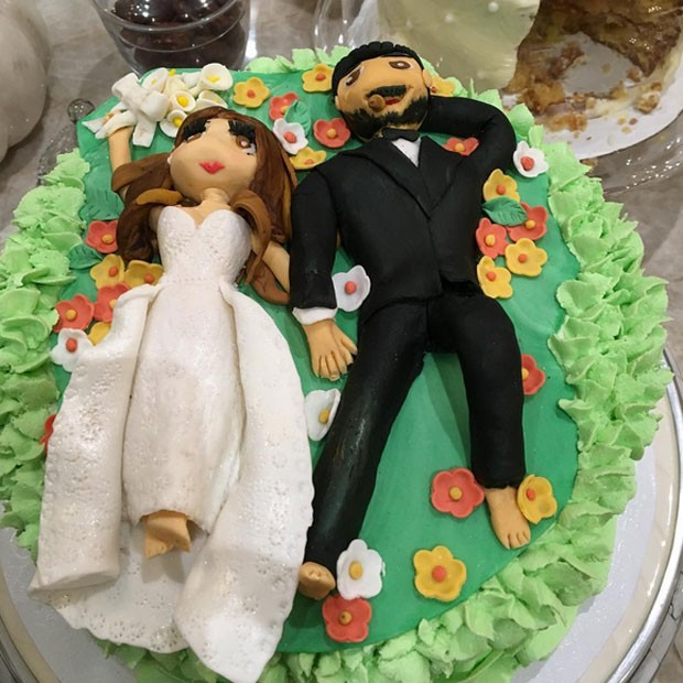 Sofia Vergara e Joe Manganiello: bolo para celebrar um ano de casados (Foto: Instagram/ Reprodução)