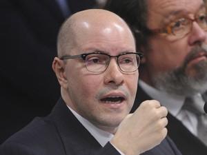 O senador Demóstenes Torres (sem partido-GO), no Conselho de Ética (Foto: Wilson Dias/ABr)