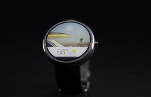Relógio com Android Gear, sistema do Google que equipará computadores vestíveis. (Foto: Reprodução/Youtube.com)