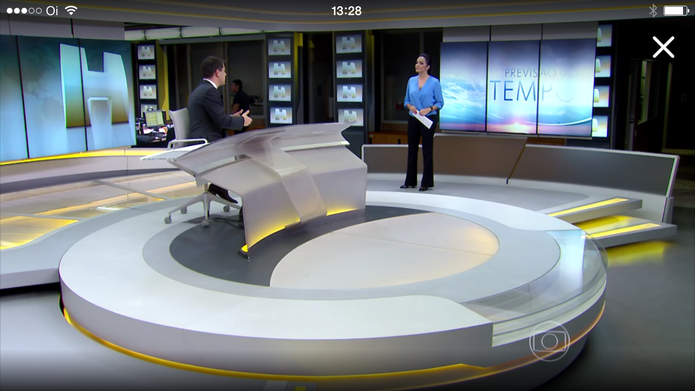 """Jornal Hoje"" ao vivo no Globo Play (Foto: Reprodução/TechTudo)"
