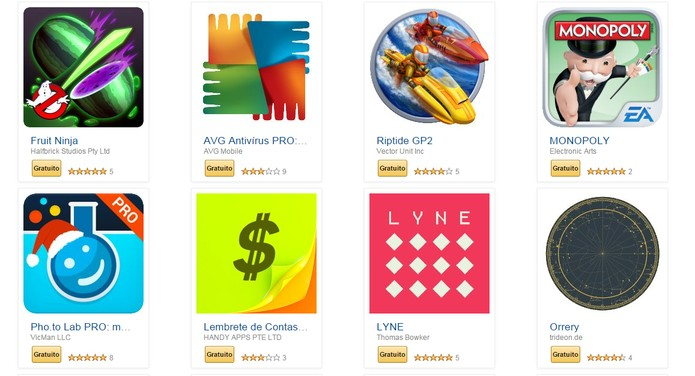 Alguns dos aplicativos liberados pela Amazon nesse fim de ano (Foto: Reprodução)