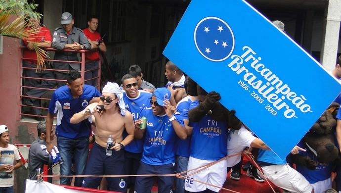 festa torcida cruzeiro campeão belo horizonte (Foto: Gabriel Duarte)