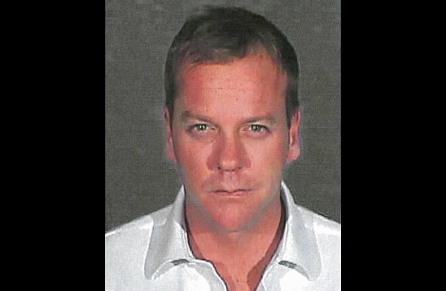 Kiefer Sutherland em 9 de outubro de 2007. Acusação: dirigir sob influência de álcool e/ou outras drogas (foi condenado a 48 dias de prisão). (Foto: Divulgação)