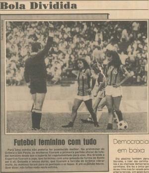 Zero Hora primeiro jogo futebol feminino Olímpico (Foto: Arquivo / Agência RBS)
