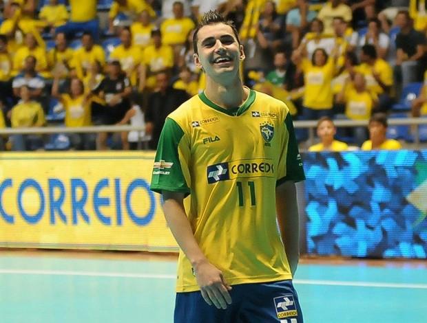 Neto futsal Brasil x Venezuela Circuito Sul-Americano (Foto: Luciano Bergamaschi/CBFS)