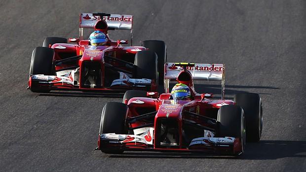 Fernando Alonso Felipe Massa GP do Japão (Foto: Getty Images)