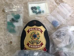 Pedra turmalina paraíba pode chegar ao valor de R$ 3 milhões, segundo a Polícia Federal (Foto: Divulgação/Polícia Federal)