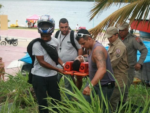 Duas pessoas ficam feridas em acidente em Maricá (Foto: Cláudio Costa/Lei Seca Maricá)