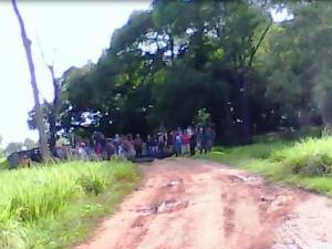 Cerca de 300 indígenas ocupam fazenda em distrito de Aquidauana, MS (Foto: Divulgação/Polícia Militar)
