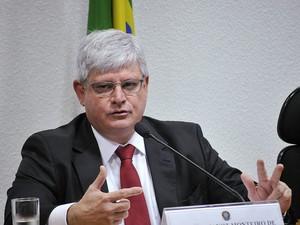 O procurador-geral da República, Rodrigo Janot, participou de audiência na CCJ do Senado (Foto: Geraldo Magela/Agência Senado)