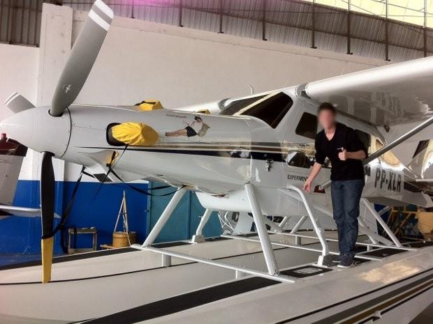 Internauta tirou foto do avião que caiu dois meses antes do acidente (Foto: Arquivo Pessoal / Vinicius Lunelli)