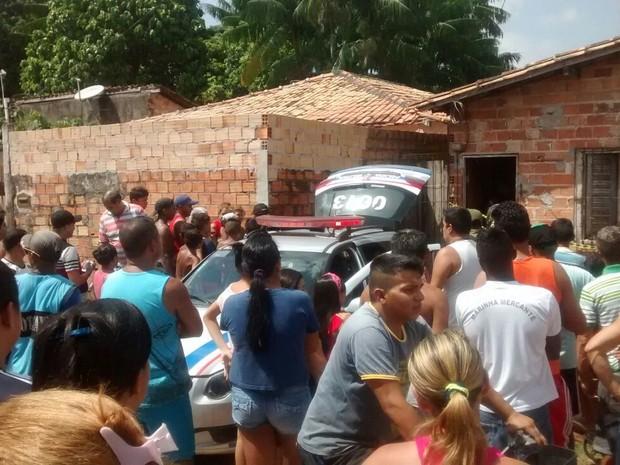 Casa no município de Ananindeua (PA) onde o corpo de uma mulher foi encontrado enterrado (Foto: Divulgação)