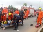 Motociclista se fere em batida com carro na EPTG, no DF