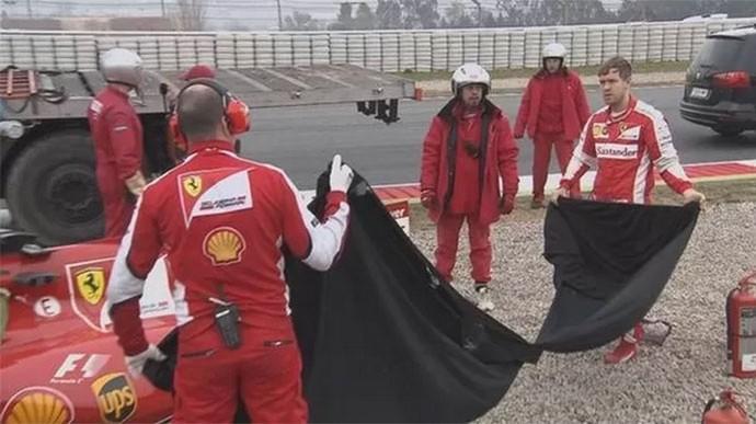 Vettel treino Barcelona (Foto: Reprodução)