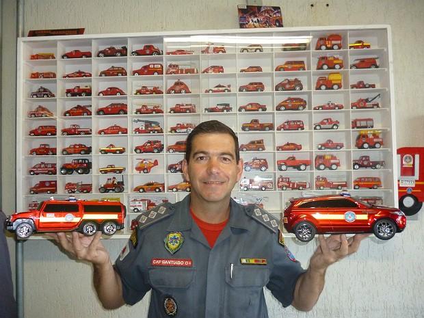 Coleção de brinquedos em miniatura Corpo de Bombeiros Juiz de Fora (Foto: Corpo de Bombeiros/Divulgação)