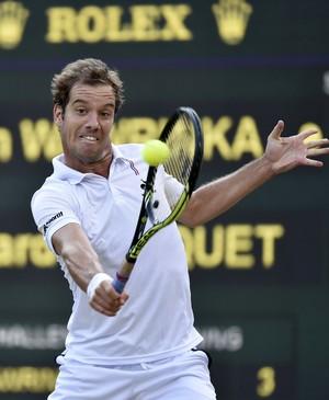 Richard Gasquet x Stan Wawrinka em Wimbledon 2015 (Foto: Reuters)