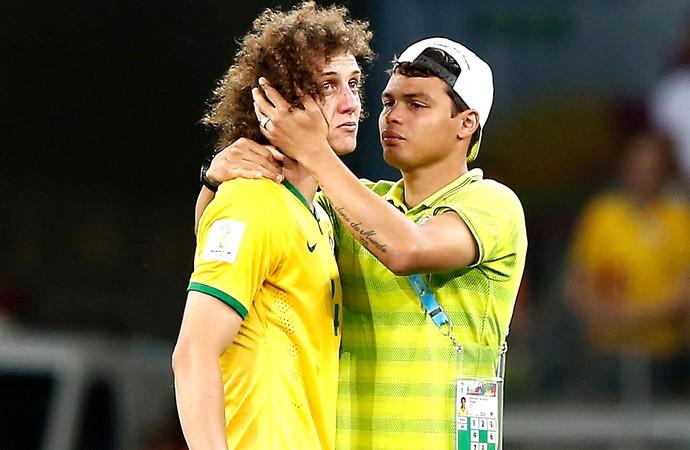 David Luiz e Thiago Silva Brasil (Foto: Agência AFP)
