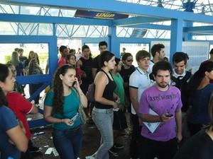 Segunda fase do vestibular da Unesp em Rio Preto (SP). (Foto: Natália Clementin / G1)