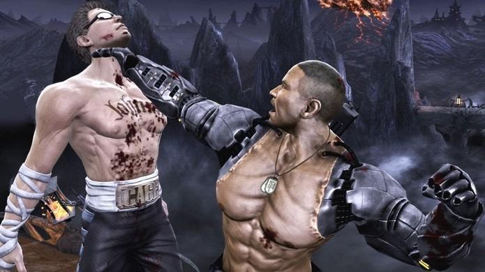 É pouco provável que o esquentado Jax Briggs deixe sua filha sozinha em Mortal Kombat X (Foto: Reprodução/YouTube)