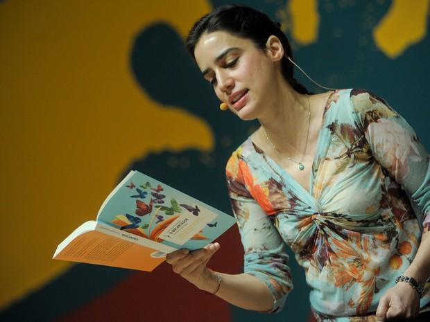 5 de julho - Lila Azam Zanganeh é filha de iranianos, nasceu em Paris e vive agora nos Estados Unidos  (Foto: Flavio Moraes/G1)