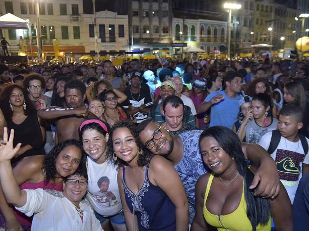 Público compareceu em bom número para conferir o show da Baiana (Foto: Elias Dantas/Ag. Haack)
