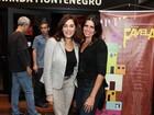 Christiane Torloni e Malu Mader conferem estreia em teatro, no Rio