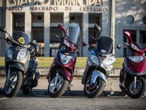 Opções de scooters têm crescido no Brasil (Foto: Raul Zito/G1)