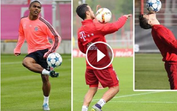 BLOG: Douglas Costa, Thiago e Lewandowski dão show de habilidade em treino