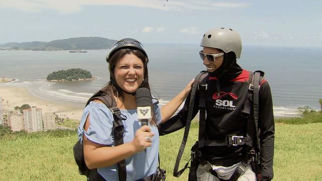 Janaina Hohne encara aventura radical no Viver Bem  (Foto: Reprodução/TV Tribuna)