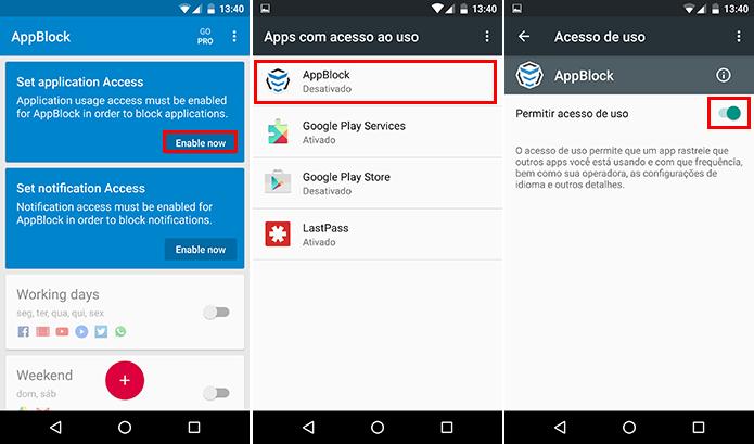 Libere o acesso do AppBlock aos seus apps (Foto: Reprodução/Paulo Alves)