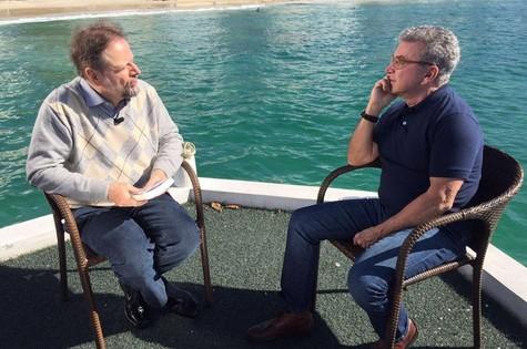 Edney Silvestre e o também escritor Cristovão Tezza (Foto: Divulgação)