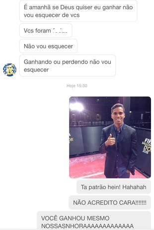 Wendell mandou mensagem para Cid agradecendo a ajuda (Foto: Reprodução / Instagram)