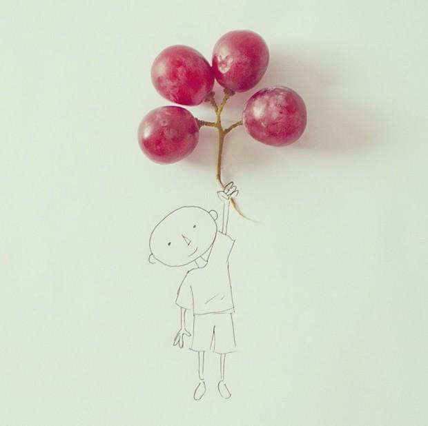 Globos de uva (Foto: Instagram/cintascotch)
