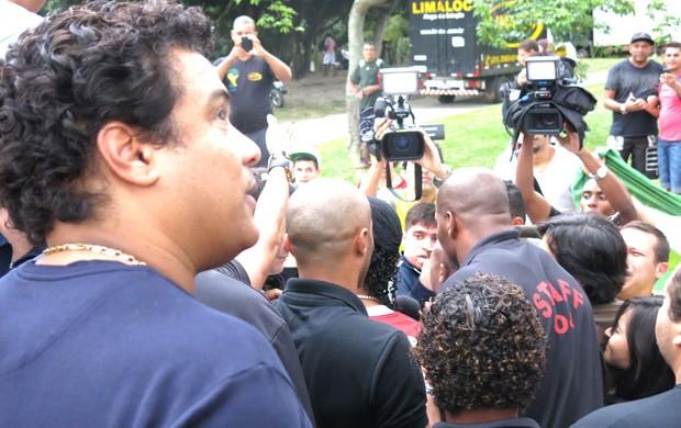 Ronaldinho, Aterro do Flamengo (Foto: Cíntia Barlem)