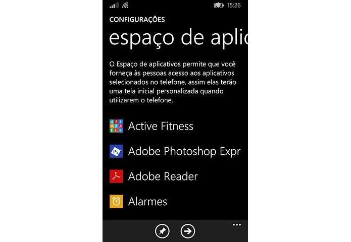 Insira os apps a serem liberados (Foto: Reprodução/Thiago Barros)