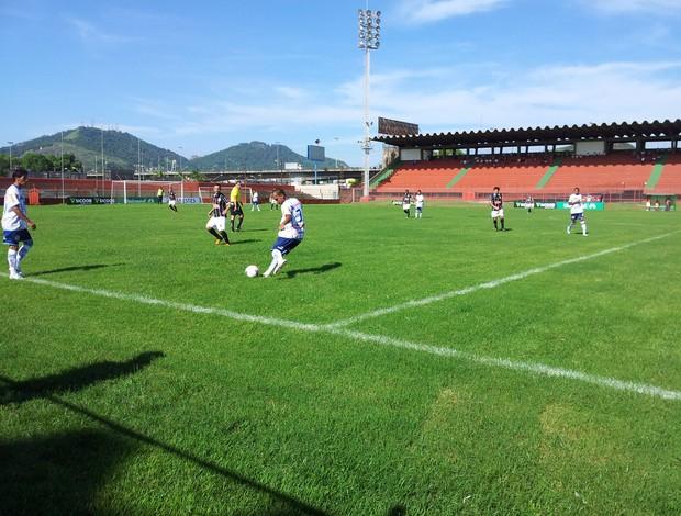 Rio Branco-ES e São Mateus se enfrentam no estádio Engenheiro Araripe (Foto: Richard Pinheiro)